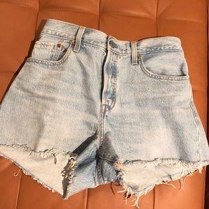 Levi's Wedgie Fit Denim Shorts